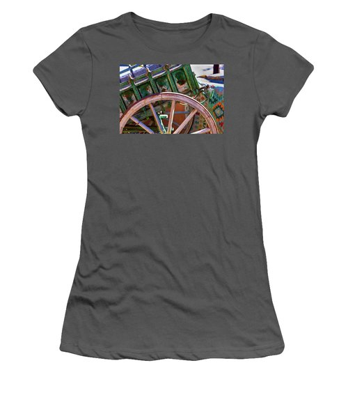 Women's T-Shirt (Junior Cut) featuring the photograph Santa Fe Spokes by Stephen Anderson