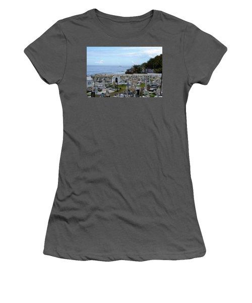 Women's T-Shirt (Junior Cut) featuring the photograph Santa Maria Magdalena De Pazzis Cemetery, Old San Juan by Lois Lepisto