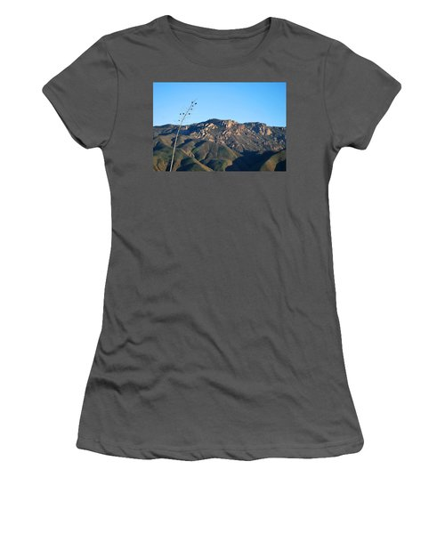 Women's T-Shirt (Athletic Fit) featuring the photograph Santa Monica Mountains View  by Matt Harang