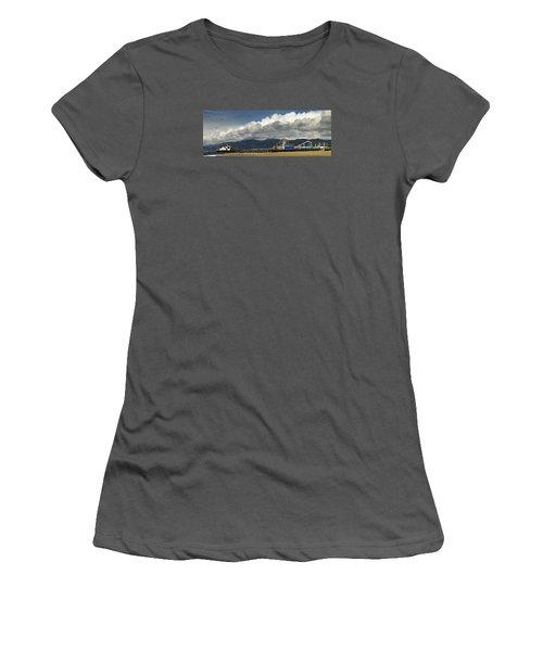 Santa Monica Pier Pan Women's T-Shirt (Athletic Fit)