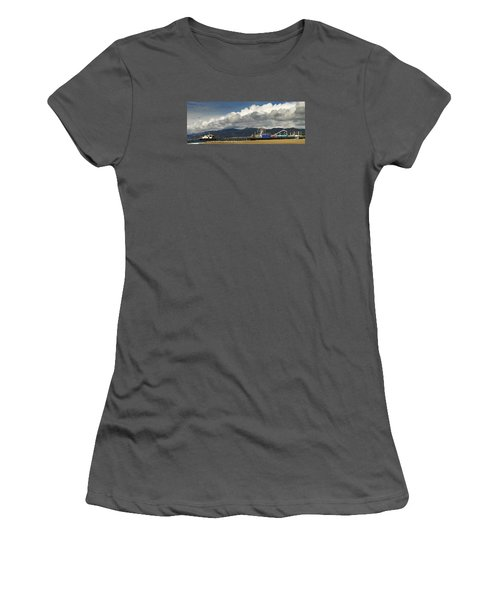 Santa Monica Pier Pan Women's T-Shirt (Junior Cut)