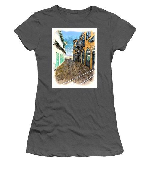 Santa Monica Pier Ver 3 Women's T-Shirt (Athletic Fit)