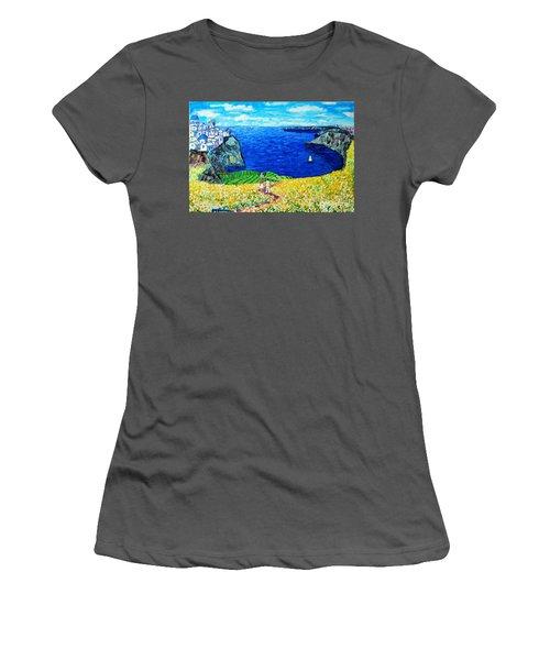 Santorini Honeymoon Women's T-Shirt (Athletic Fit)