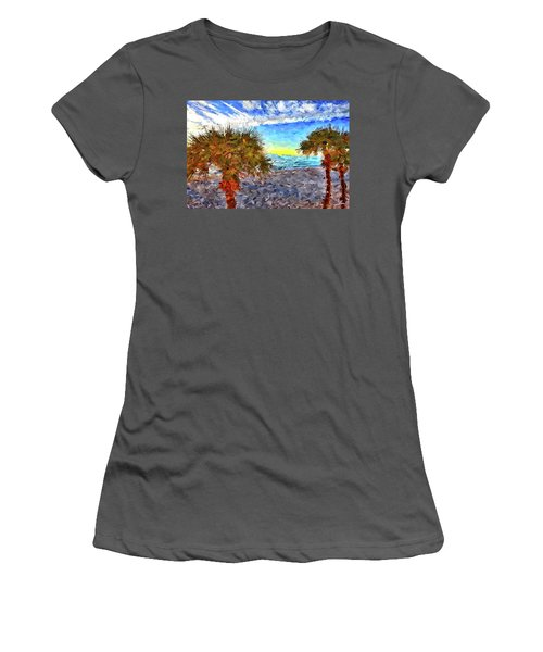 Sarasota Beach Florida Women's T-Shirt (Junior Cut) by Joan Reese
