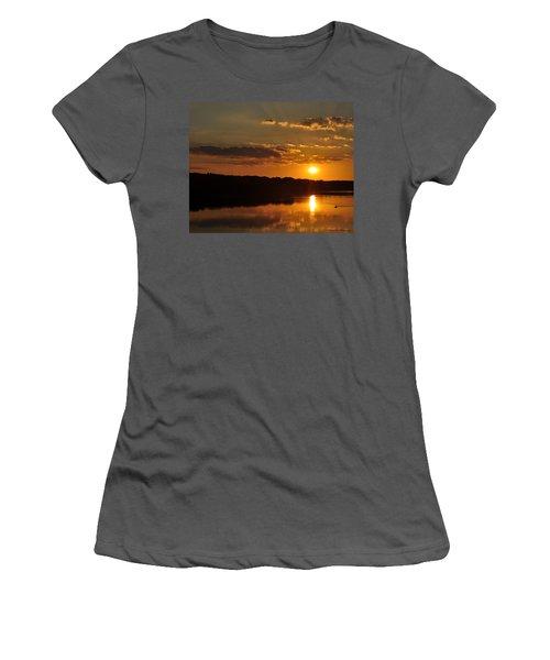 Savannah River Sunset Women's T-Shirt (Athletic Fit)