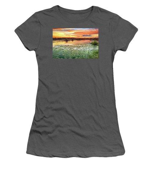 Savannas Sunset Women's T-Shirt (Athletic Fit)