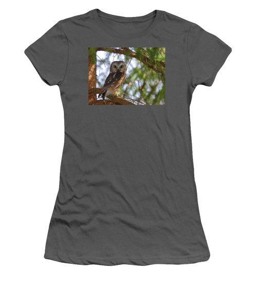 Saw-whet Owl Women's T-Shirt (Athletic Fit)