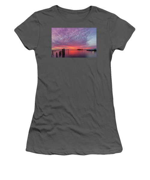 Saxis Sunset Women's T-Shirt (Junior Cut) by David Cote