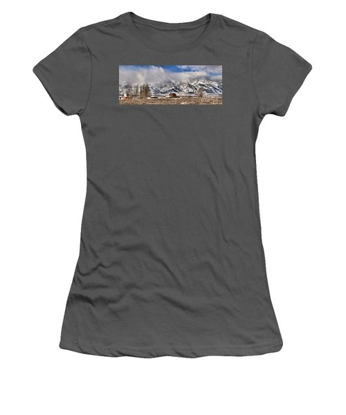 Women's T-Shirt (Junior Cut) featuring the photograph Scenic Mormon Homestead by Adam Jewell