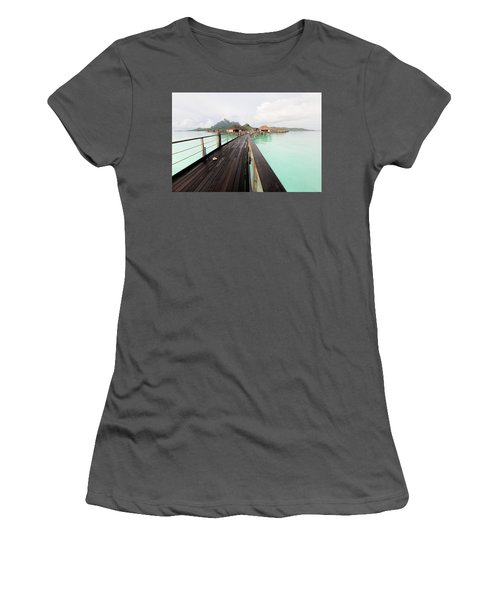Scenic Walk To The Bungalow Women's T-Shirt (Athletic Fit)