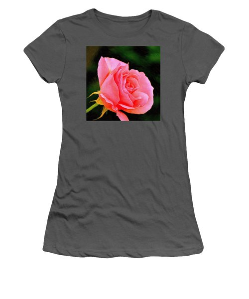 Scented Pink Rose Women's T-Shirt (Athletic Fit)