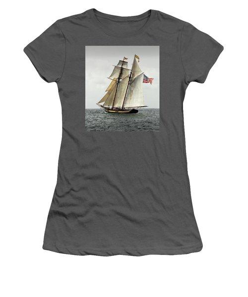 Schooner Pride Of Baltimore II Women's T-Shirt (Athletic Fit)