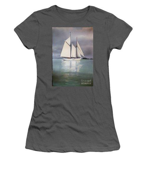 Schooner Women's T-Shirt (Athletic Fit)