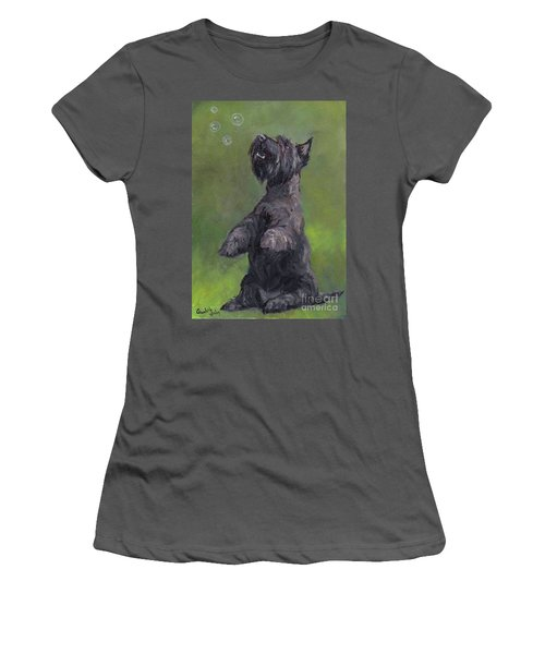 Scottie Likes Bubbles Women's T-Shirt (Athletic Fit)