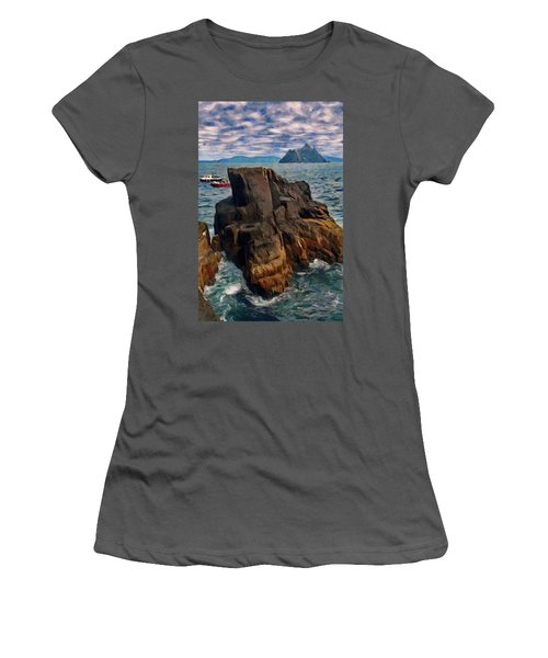 Sea And Stone Women's T-Shirt (Junior Cut) by Jeff Kolker