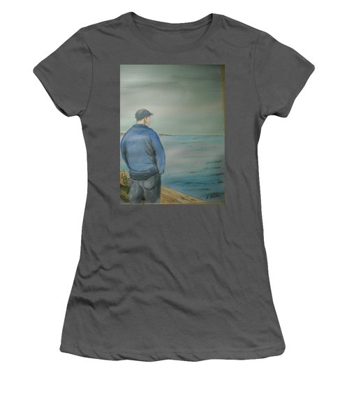 Women's T-Shirt (Junior Cut) featuring the painting Sea Gaze by Anthony Ross