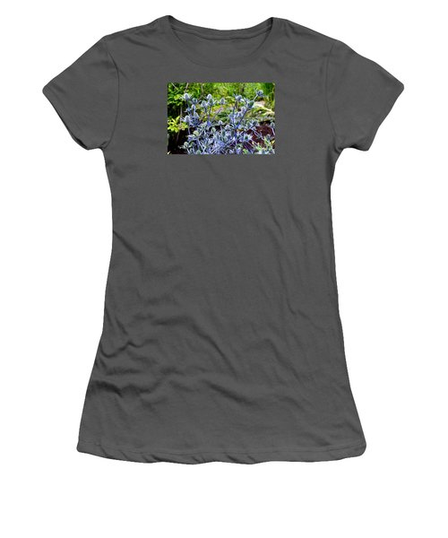 Women's T-Shirt (Junior Cut) featuring the photograph Sea Holly Blooming by Tanya Searcy