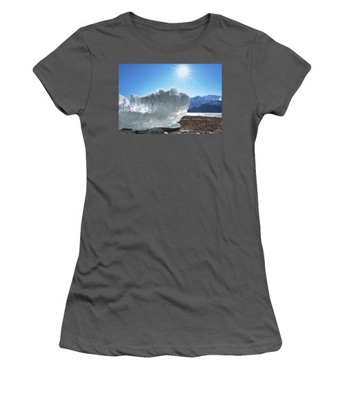 Sea Ice Glowing With The Sun Women's T-Shirt (Athletic Fit)