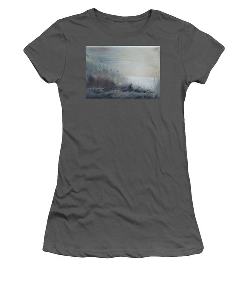 Women's T-Shirt (Athletic Fit) featuring the painting Sea Oats by Judith Rhue