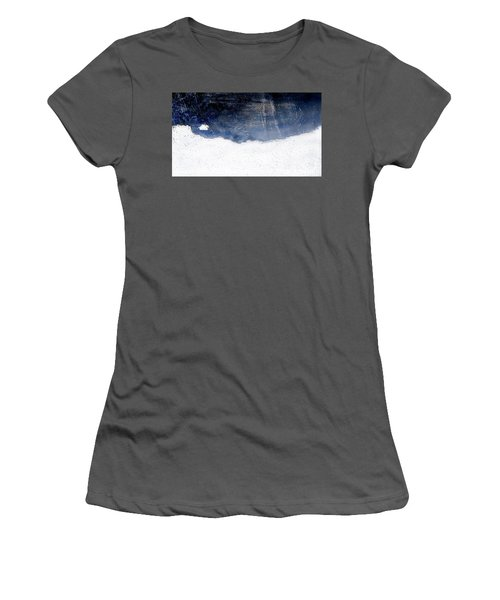 Sea, Satellite - Coast Line On Blue Ocean Illusion Women's T-Shirt (Athletic Fit)
