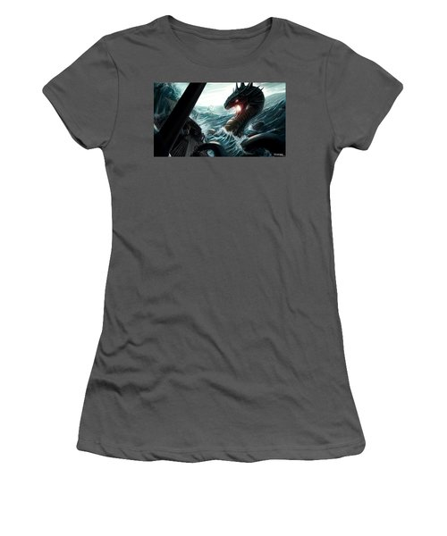 Sea Serpent Women's T-Shirt (Athletic Fit)