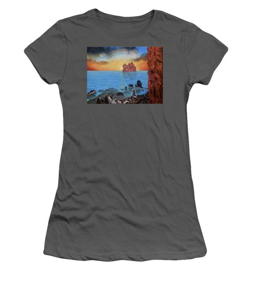 Sea Sunset Women's T-Shirt (Athletic Fit)