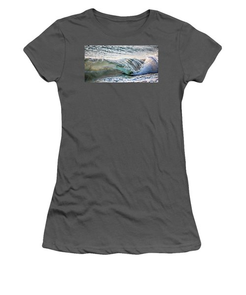 Sea Turtles In The Waves Women's T-Shirt (Junior Cut) by Barbara Chichester