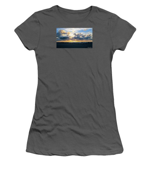 Seagulls On The Beach At Sunrise Women's T-Shirt (Junior Cut)