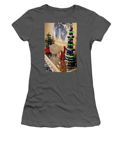 Women's T-Shirt (Junior Cut) featuring the photograph Seahawk Christmas by Judyann Matthews