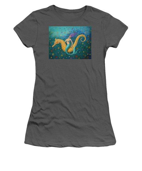 Seahorse Mermaid Women's T-Shirt (Athletic Fit)