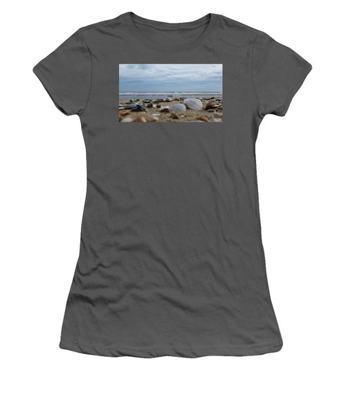 Seashells Seagull Seashore Women's T-Shirt (Athletic Fit)