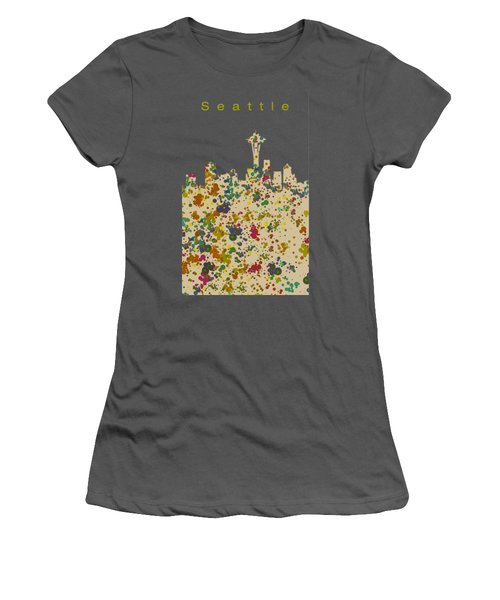 Seattle Skyline 1 Women's T-Shirt (Athletic Fit)