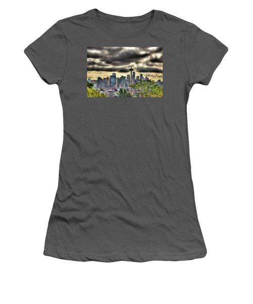 Seattle Washington Women's T-Shirt (Junior Cut) by David Patterson