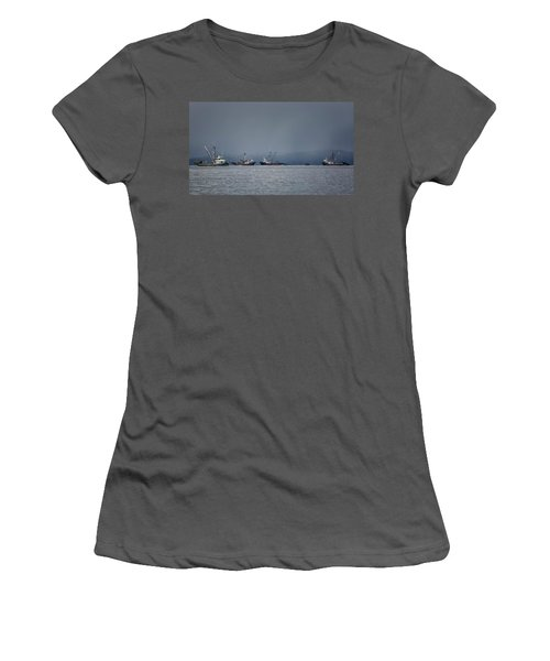 Women's T-Shirt (Junior Cut) featuring the photograph Seiners Off Mistaken Island by Randy Hall