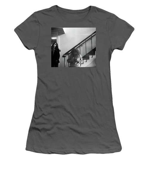 Self-portrait, With Woman, In Mirror, Cropped, 1972 Women's T-Shirt (Athletic Fit)