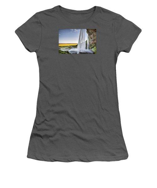 Seljalandsfoss Women's T-Shirt (Junior Cut) by Brad Grove