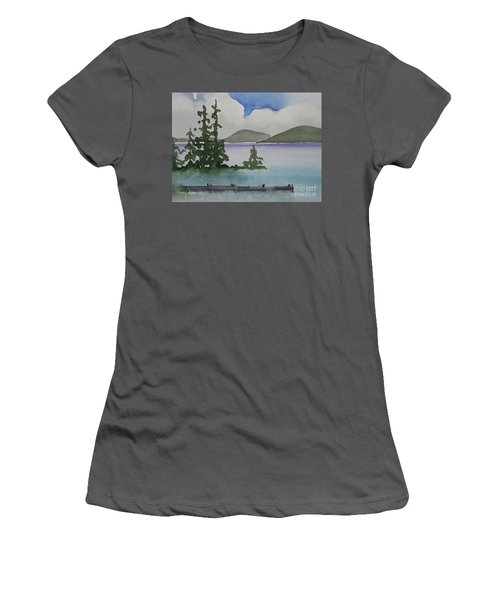 Serene Morning On Lake Superior Women's T-Shirt (Athletic Fit)