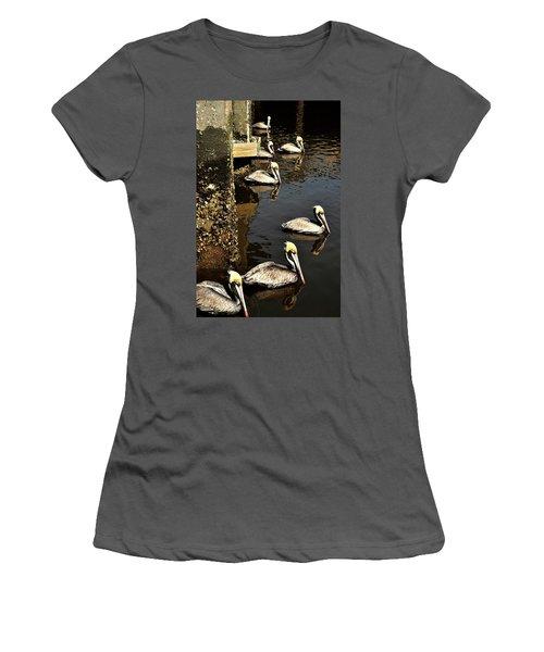 Seven Pelicans Women's T-Shirt (Athletic Fit)