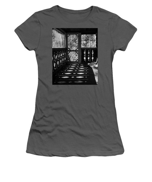 Women's T-Shirt (Athletic Fit) featuring the photograph Shadows And Bars by Alan Raasch