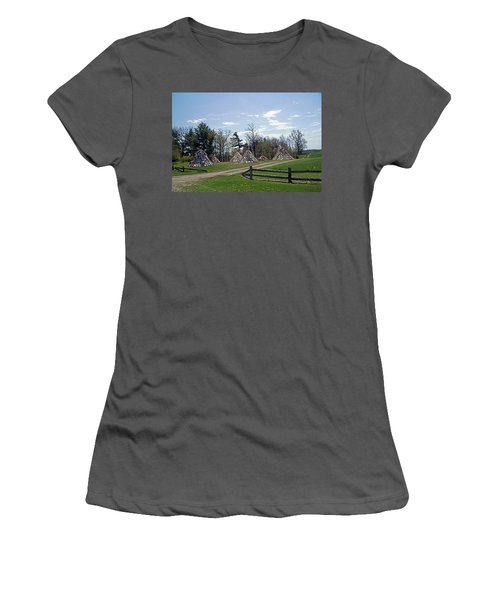 Shaker Teepees? Women's T-Shirt (Junior Cut) by Judy Johnson