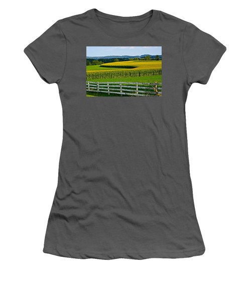 Shapely Cornfield 1 Women's T-Shirt (Athletic Fit)
