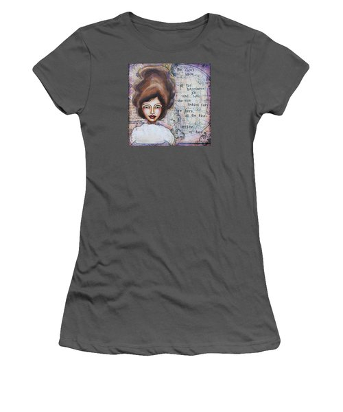 She Didn't Know - Inspirational Spiritual Mixed Media Art Women's T-Shirt (Athletic Fit)