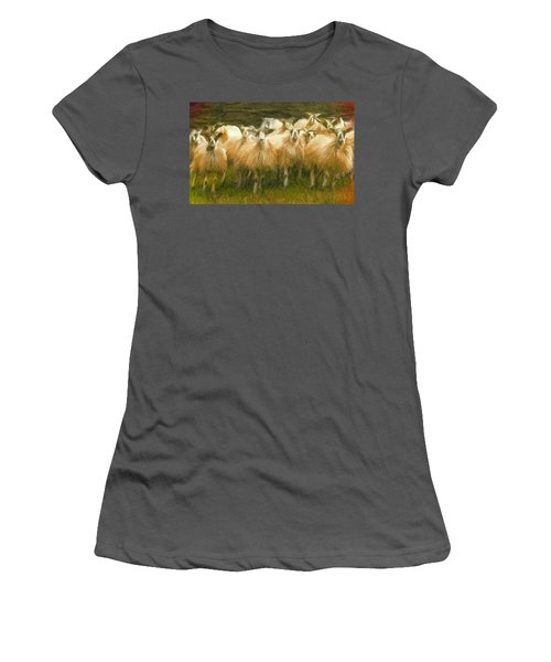 Sheep At Hadrian's Wall Women's T-Shirt (Athletic Fit)