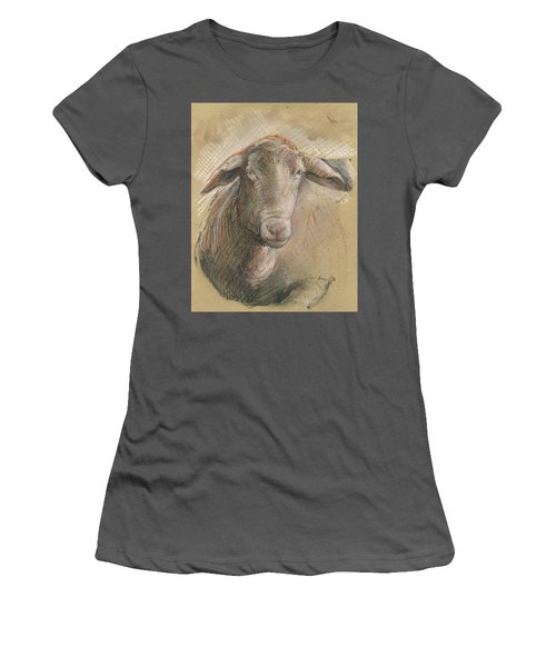 Sheep Head Women's T-Shirt (Athletic Fit)