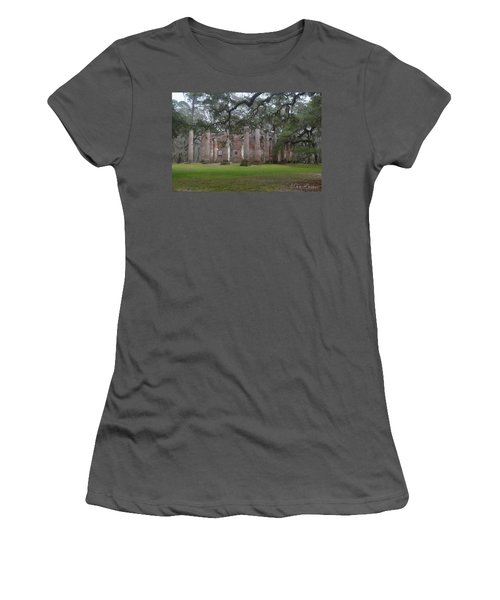 Sheldon Church 6 Women's T-Shirt (Junior Cut) by Gordon Mooneyhan