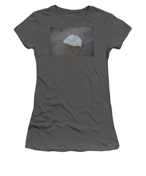 Women's T-Shirt (Junior Cut) featuring the photograph Shell And Sand by Rob Hans