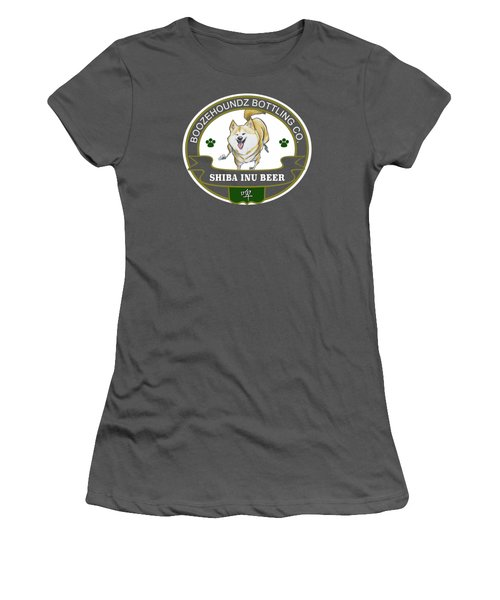Shiba Inu Beer Women's T-Shirt (Athletic Fit)