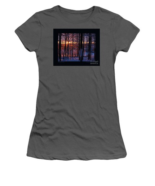 Women's T-Shirt (Junior Cut) featuring the photograph Shimmery Sunrise by Patricia Overmoyer