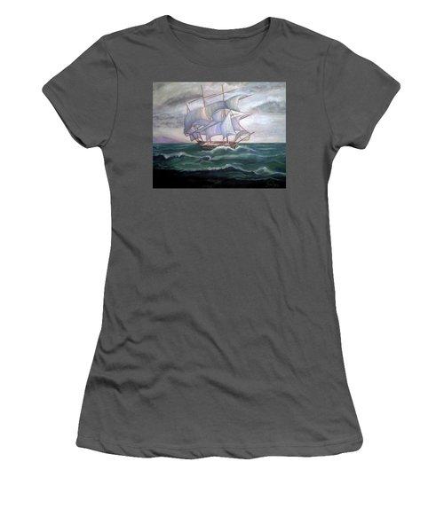 Ship Out To Sea Women's T-Shirt (Junior Cut) by Manuel Sanchez