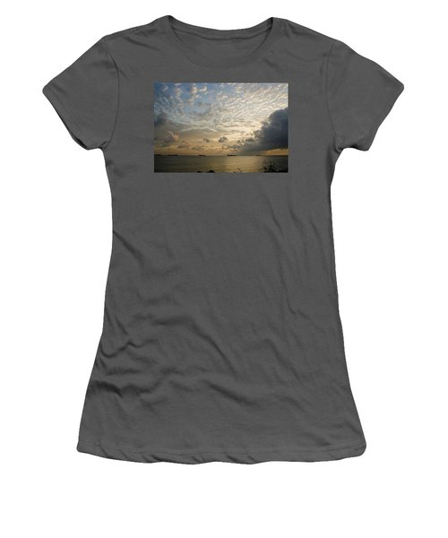 Ships In The Ship Channel.  Women's T-Shirt (Athletic Fit)
